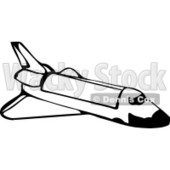 Space Shuttle in Outer Space Clipart Illustration © djart #6134
