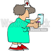 Female Nurse Holding a Pill Cup and a Glass of Water For a Patient at a Hospital Clipart Picture © djart #6150