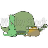 Green Dinosaur Herd Clipart Picture © djart #6164