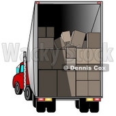 Open Delivery Truck Stacked With Boxes For Delivery Clipart Picture © djart #6171