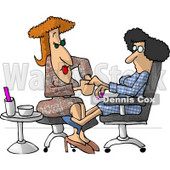 Woman Getting a Manicure at a Professional Nail Salon Business Clipart Picture © djart #6179