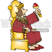 King Sitting On His Throne Clipart Picture © djart #6185