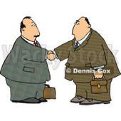 Businessmen Shaking Hands - Royalty-free Clipart Illustration © Dennis Cox #6256