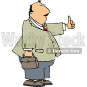 Businessman with Thumbs Up - Royalty-free Clipart Illustration © djart #6259