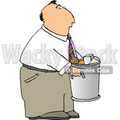 Businessman Taking Out Garbage  - Royalty-free Clipart Illustration © djart #6263