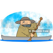 Man Rowing a Boat on a Lake Clipart Picture © djart #6267
