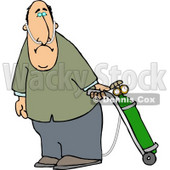 Middle Aged Man on Oxygen Therapy Clipart Picture © Dennis Cox #6268