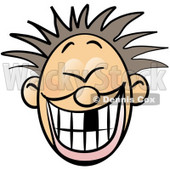 Smiley Faced Boy With Spiky Hair and Missing Tooth Clipart Illustration © djart #6270