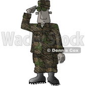U.S. Marine Delivering a Salute - Royalty-free Clipart Picture © Dennis Cox #6278