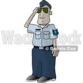 United States Air Force Pilot Saluting - Royalty-free Clipart Picture © Dennis Cox #6281