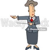 Executive Woman Pointing a Pointer Stick Towards Her Right Clipart Picture © Dennis Cox #6285