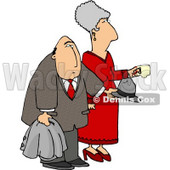 Elderly Couple at a Party Clipart Picture © Dennis Cox #6292