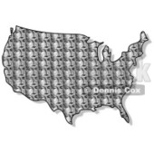 Royalty-Free (RF) Clipart Illustration of a George Washington Patterned USA Map © Dennis Cox #62941