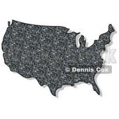 Royalty-Free (RF) Clipart Illustration of a Rock Textured USA Map © Dennis Cox #62951