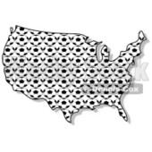 Royalty-Free (RF) Clipart Illustration of a Soccer Ball USA Map © Dennis Cox #62958