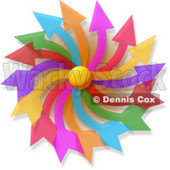 Colorful Pinwheel Clipart Picture © djart #6299