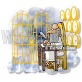 Gateway to Heaven Clipart Illustration © Dennis Cox #6312