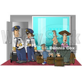 Female and Male Pilots Ready to Board a Plane with Passengers Clipart Picture © djart #6314