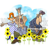 People Announcing Spring Has Sprung Clipart © Dennis Cox #6329