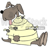 Royalty-Free (RF) Clipart Illustration of a Crazy Dog in a Straight Jacket © djart #66725