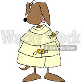 Royalty-Free (RF) Clipart Illustration of a Crazy Canine in a Straight Jacket © Dennis Cox #66726
