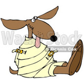 Royalty-Free (RF) Clipart Illustration of a Loony Dog in a Straight Jacket © Dennis Cox #66727