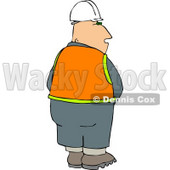 Male Construction Worker Urinating Clipart Illustration © Dennis Cox #6680