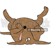 Royalty-Free (RF) Clipart Illustration of a Dead Brown Spotted Dog On His Back © Dennis Cox #66804