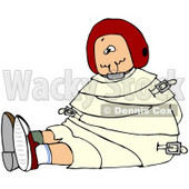 Royalty-Free (RF) Clipart Illustration of a Red Haired Woman Restrained In A Straitjacket © djart #67127