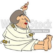 Royalty-Free (RF) Clipart Illustration of a Lady Restrained In A White Straitjacket © djart #67128