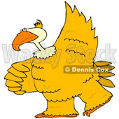 Royalty-Free (RF) Clipart Illustration of a Large Yellow Bird Dancing © Dennis Cox #67133