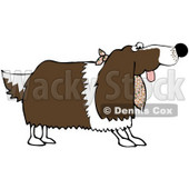 Royalty-Free (RF) Clipart Illustration of a Springer Spaniel Dog Wearing A Cloth Around His Neck © Dennis Cox #70271