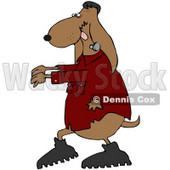 Royalty-Free (RF) Clipart Illustration of a Brown Frankenstein Halloween Dog © Dennis Cox #71109