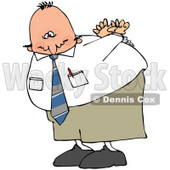 Royalty-Free (RF) Clipart Illustration of a Handcuffed Businessman With An Agonizing Expression © Dennis Cox #71112