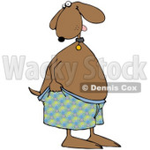 Royalty-Free (RF) Clipart Illustration of an Embarrassed Dog Pulling Up His Shorts © djart #71429