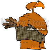 Royalty-Free (RF) Clipart Illustration of an Embarrassed Bird Pulling Up His Shorts © Dennis Cox #71431