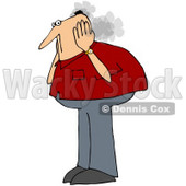 Royalty-Free (RF) Clipart Illustration of a Caucasian Man Covering His Steaming Ears © djart #72781