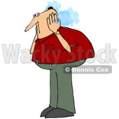 Royalty-Free (RF) Clipart Illustration of a Caucasian Guy Covering His Steaming Ears © djart #72783