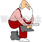 Royalty-Free (RF) Stock Illustration of Father Christmas Lifting One Leg To Put On Boots © djart #79719