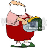 Royalty-Free (RF) Stock Illustration of Santa Carrying A Laundry Basket Of Clothes © djart #80324