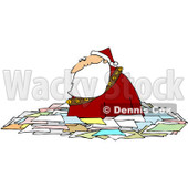 Royalty-Free (RF) Clipart Illustration of Santa Wading Chest High In Letters © djart #81524