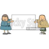 Royalty-Free (RF) Clipart Illustration of a Chubby Boy And Girl Holding A Blank White Sign © Dennis Cox #83478