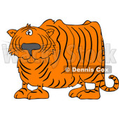 Royalty-Free (RF) Clipart Illustration of a Confused Tiger Looking At The Viewer © Dennis Cox #83889