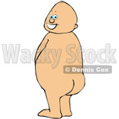 Royalty-Free (RF) Clipart Illustration of a Caucasian Baby Boy Standing And Peeing While Looking Back © djart #84480