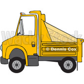 Royalty-Free (RF) Clipart Illustration of a Side View Of A Yellow Dumptruck © Dennis Cox #88336