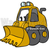 Royalty-Free (RF) Clipart Illustration of a Parked Yellow Mini Loader © Dennis Cox #88340