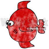Small Red Saltwater Fish Clipart Illustration © Dennis Cox #9039