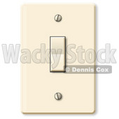 Standard Household Rocker Light Switch Clipart Picture © djart #9399