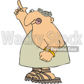 Royalty-Free (RF) Clipart Illustration of a Roman Man Standing And Pointing Upwards © djart #97788