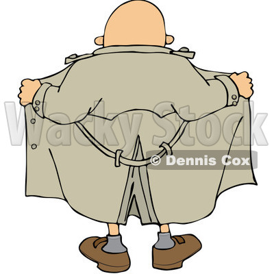 Clipart Flasher Man From Behind - Royalty Free Vector Illustration © djart #1067863